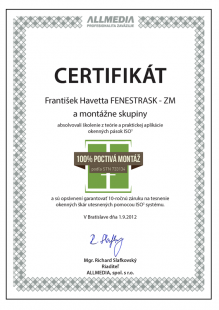 certifikat 0011