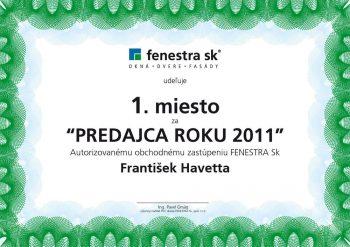 Ocenenie : predajca roku 2011